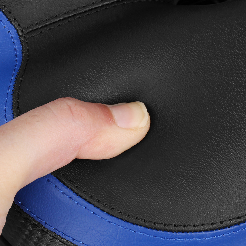 Mountain Bike Saddle Seat with Light Soft Front Saddle Cover Mat MTB Road Bicycle Saddle Cycling Bike Accessories Blue Red
