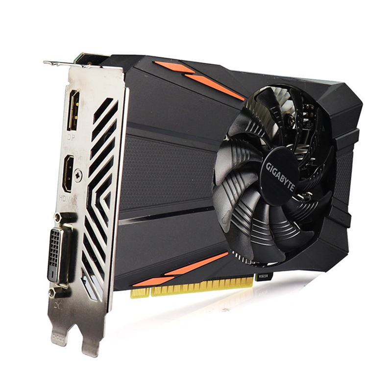 Gigabyte Graphics Card GTX1050 Ti 4 GB Card with NVIDIA GeForce gtx 1050 Ti  GPU 4GB GDDR5 128 Bit Video Cards for PC Used Cards