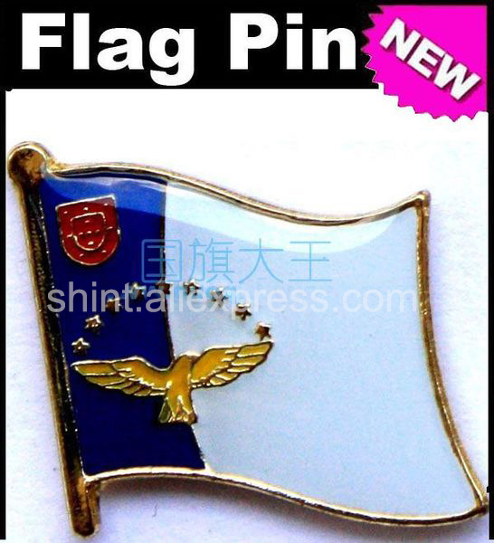 Lapel Pins Azores Flag Pins All Over The World Badge Emblem Country State Pins