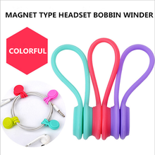 3Pcs/Pack Earphone Cord Winder Cable Holder Organizer Clips Multi Function Durable Magnet Headphones Winder Cables(China)