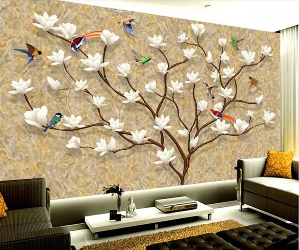 Beibehang Custom Wallpaper 3d European Hand Painted Family Tree