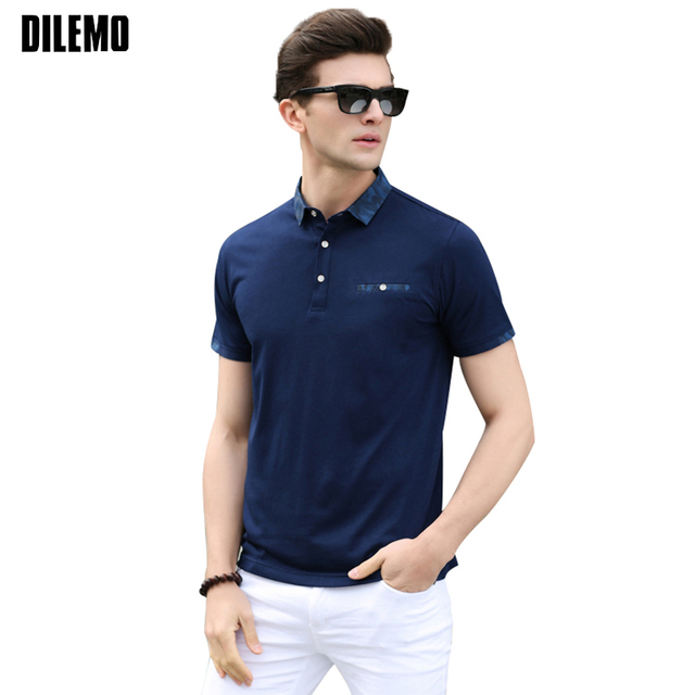 f69d90e8b9 New Fashion Summer Polo Shirt Men Trend Neckline Design Slim Fit Short  Sleeve Polo Shirts Men Top Grade Casual Poloshirt Men