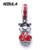 925 Sterling Silver Chinês boneca de prata dangle com vermelho e preto esmalte Charme Serve Pulseira DIY Colar de Jóias Da Marca Original