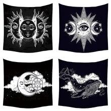 МАНДАЛА ГОБЕЛЕН настенный психоделический Celestial индийский Солнца и Луны хиппи стене гобелен колдовство стены тканью гобелены ковер