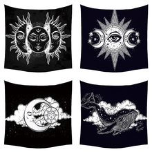 Mandala Tapestry Wall Hanging Psychedelic Celestial Indian Sun Moon Hippie Witchcraft Cloth Tapestries Carpet