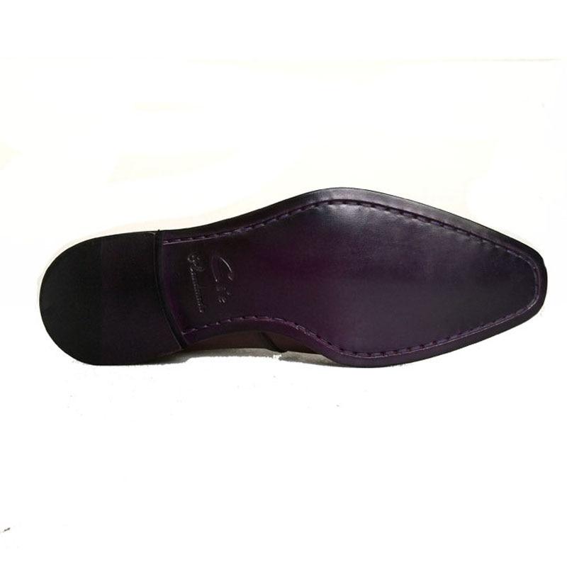 cie Square Toe Bespoke Custom Handmade Genuine Calf Leather Plain Toe Oxfords Color Patina Brown Lace-Up Dress Business OX511