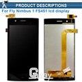 Для Fly Nimbus 1 Fly FS451 FS 451 ЖК-Дисплей + Сенсорный Экран Планшета Ассамблея Высокое Качество Черный Цвет