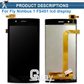 For Fly Nimbus 1 Fly FS451 FS 451 LCD Display+Touch Screen Digitizer Assembly High Quality Black Color