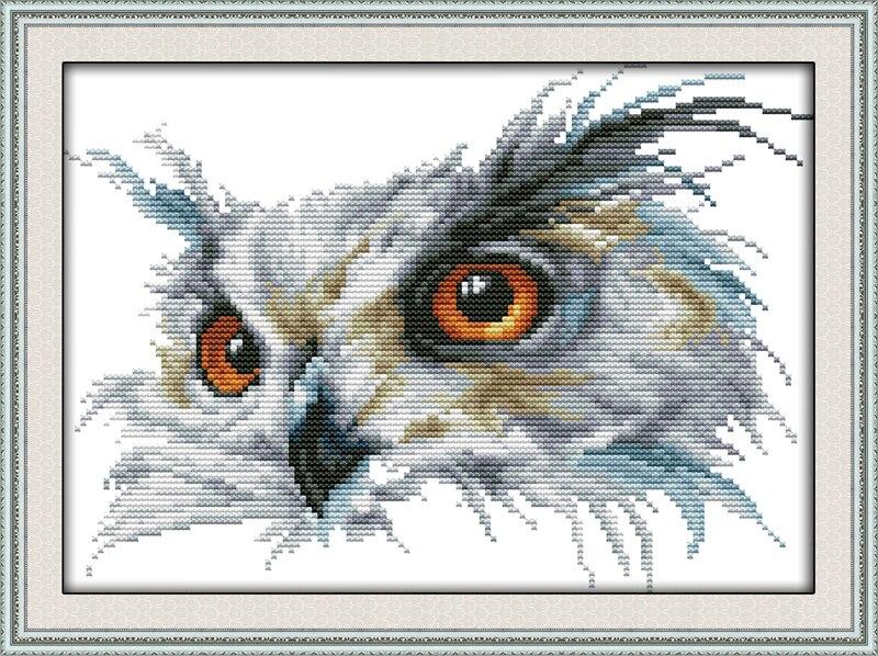 Owl Animal DIY Ručně vyráběné vyšívání Cross Stitch Set Cross Stitch Soupravy pro výšivku