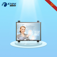 ZK120TC DL/12 inch 1024x768 4:3 HD Linux Ubatu System DVI VGA Metal Shell Embedded Open Frame Touch Monitor LCD Screen Display