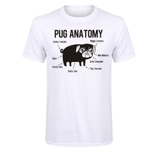 LUSLOS Pug Tees, Pug Tee Shirts, Dog T-Shirts, Pug Anatomy, Dog Print Tees, Dog Graphic Shirts,Pug Life, Gift For Dog Owners