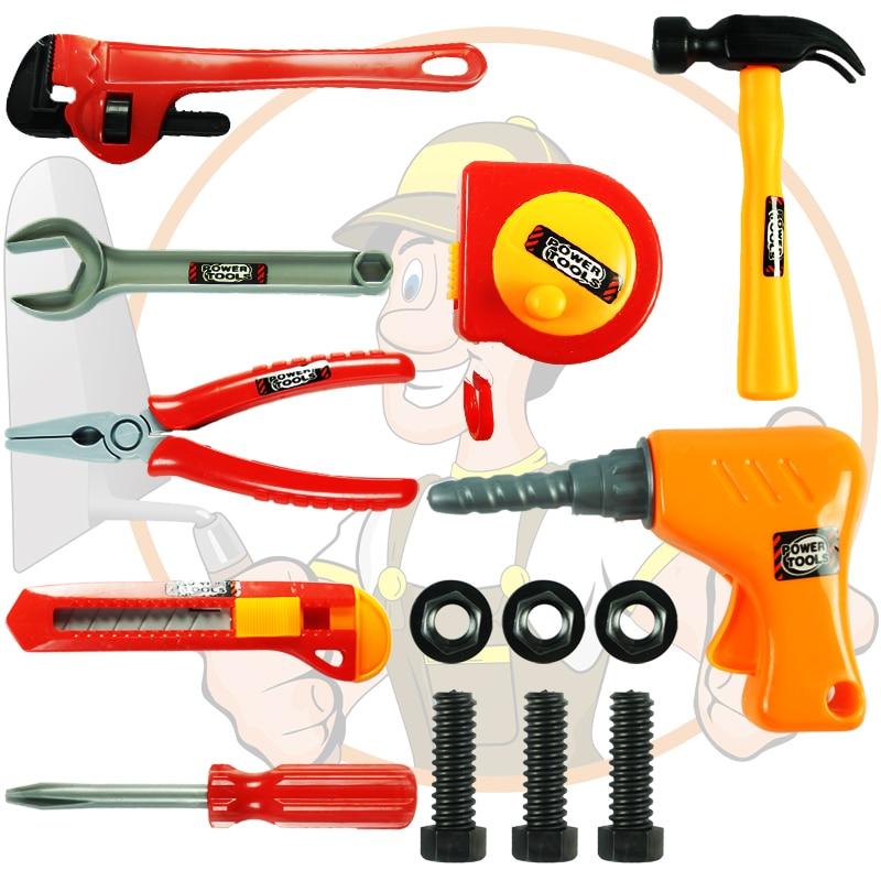 Toy Tool Set : Pcs lot new children kids boy building tool kits set diy