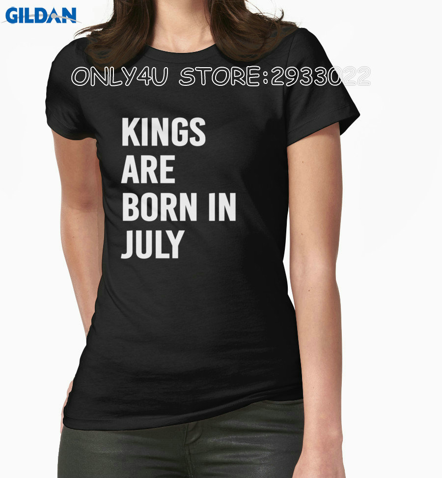 Gildan Only4U Cheap T Shirts Online Women'S Crew Neck Short Sleeve Christmas Kings Are Born In July Crew Neck Shirts For Women
