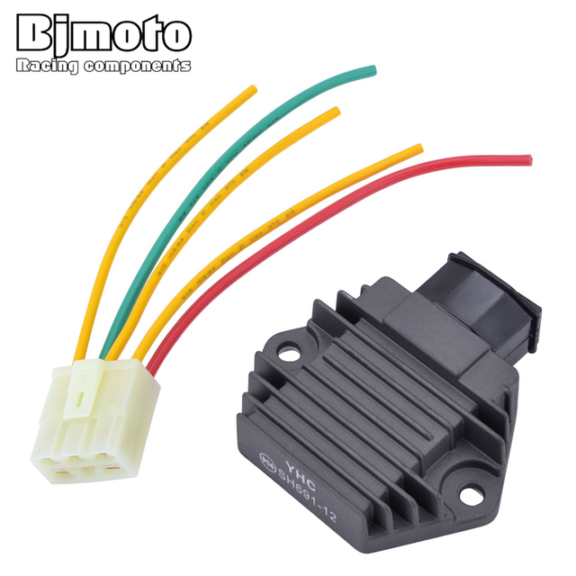 US $14 12 34% OFF|YHC SH691 Motorcycle Voltage Regulator Rectifier For  Honda CBR 250 400 CBR600 F CBR900 Shadow750 CB250 CB400 CB500 CB600  Hornet-in