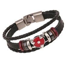 1 PC New Arrival Direct Selling Anime Leather Bracelet Student Bangle Wholesale New Fashion Leather Bracelet