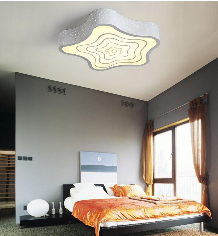 Алюминий современные светодиодные светильники потолочные для гостиной спальня AC85-265V белый/черный потолочный светильник светильники