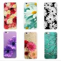 Coques de téléphone colorées de plante de fleur de luxe pour l'iphone 7plus cas couvercle de téléphone flexible en polyuréthane thermoplastique clair pour l'iphone 8plus capa