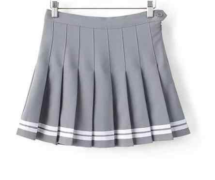 Zoete Geplooide Rok Vrouwen Preppy Stijl Mini Hoge Taille Rok Meisjes Vintage Zwart Wit Leuke School Uniformen Rokken
