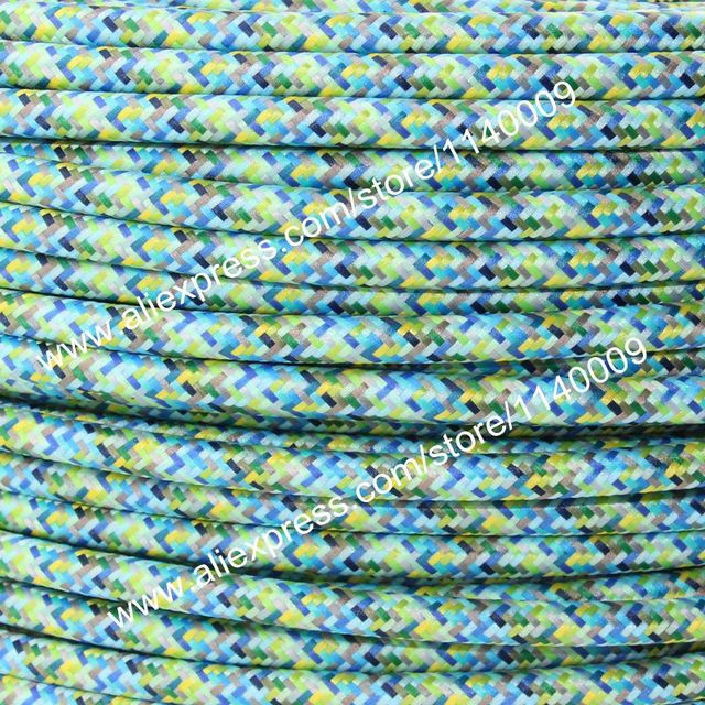 10 meters Rosy Color 2 core 0.75mm2 Textile Electrical Wire Color ...