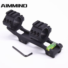 Hunting Optic Scope Mount Dual Ring with Spirit Bubble Level Fit 20 mm Picatinny Rail for Tactical Rifle Scope with 30 mm Tube qase 10 10 29 mm square spirit level bubble with magnetic stripe transparent or green 1 piece