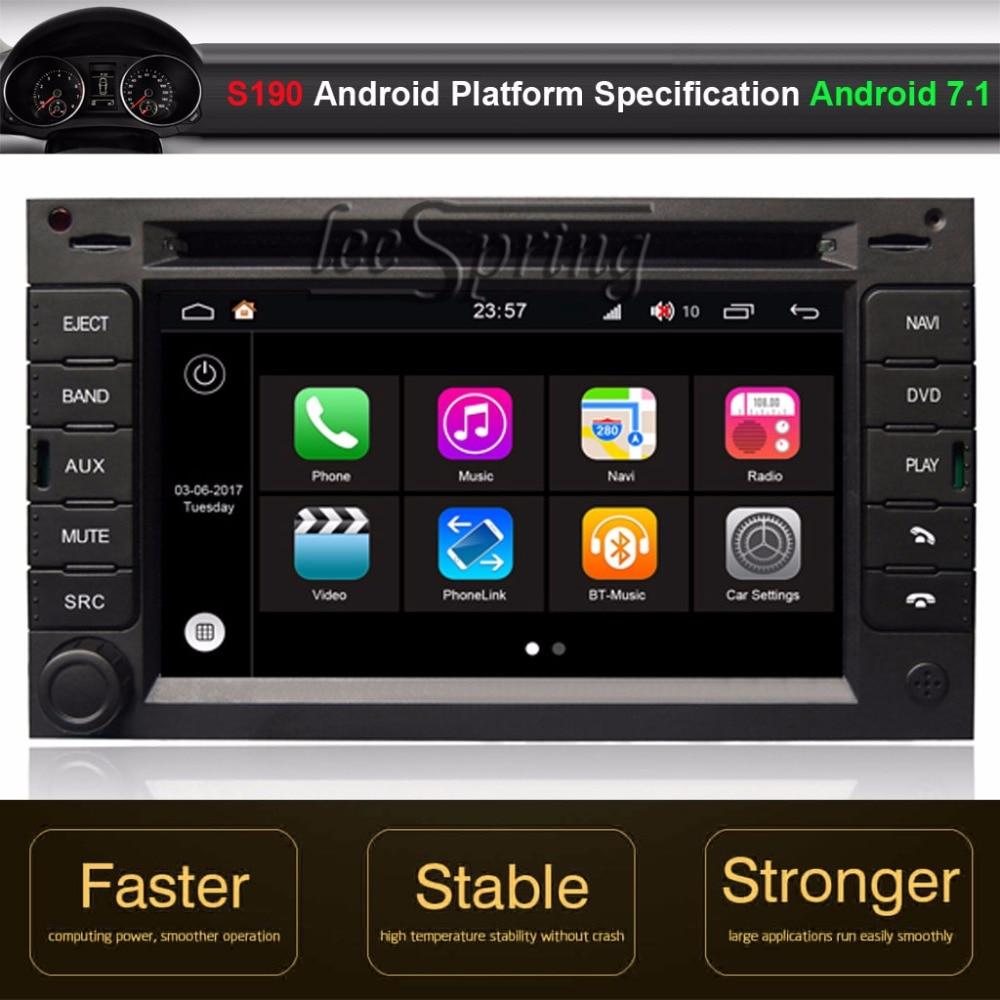 Lecteur DVD GPS pour voiture Android 7.1 pour Peugeot 307