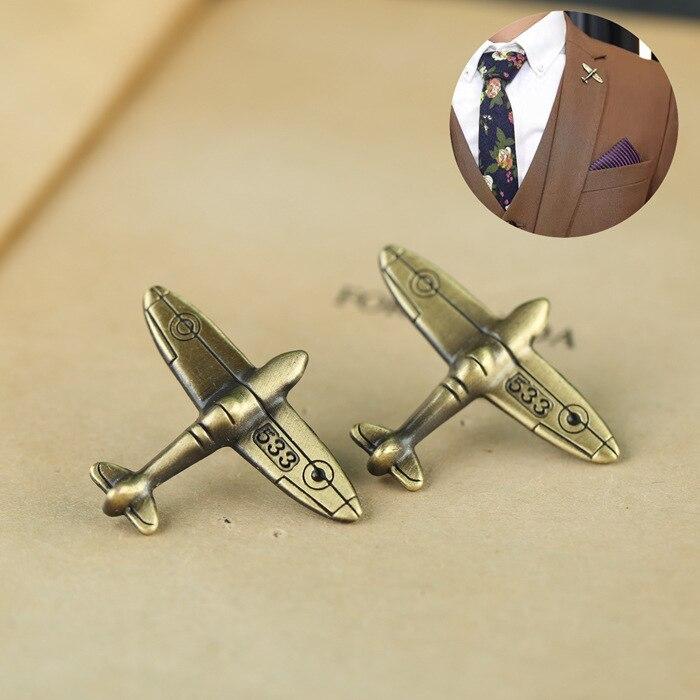 1 Pc Legierung Antike Bronze Farbe Flugzeug Retro Air Flugzeug Broschen Pins Und Brosche Abzeichen Revers Pins Für Männer Taille Und Sehnen StäRken