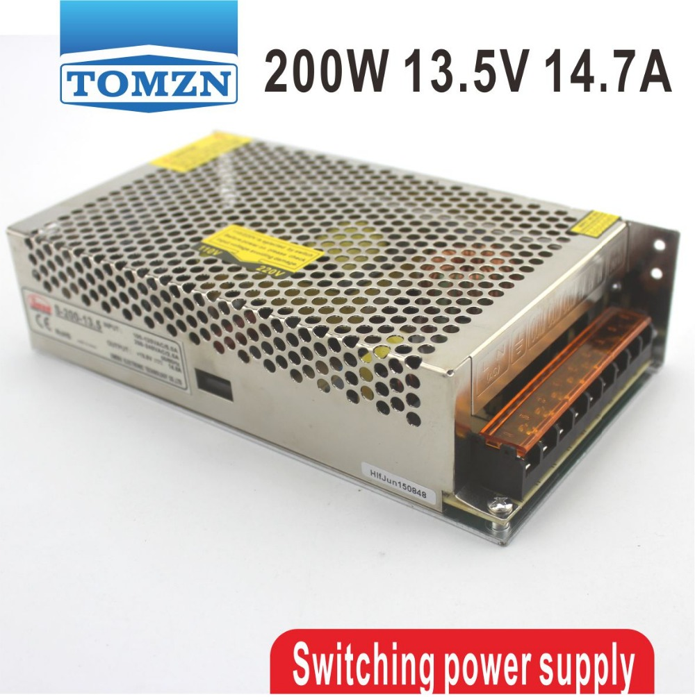 200W 13.5V 14.7A Single Output Switching power supply for LED Strip light AC to DC ac 85v 265v to 20 38v 600ma power supply driver adapter for led light lamp