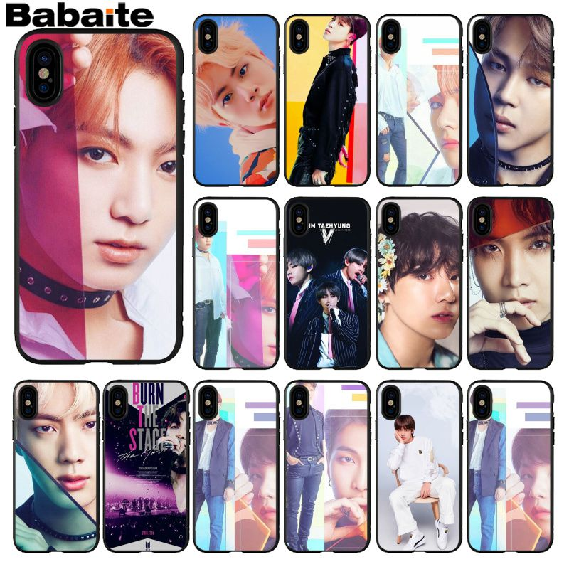 Cellphones & Telecommunications Temperate Babaite Bts Bangtan Boys Luxury Unique Design Phone Cover For Iphone 5 5sx 6 7 7plus 8 8plus X Xs Max Xr Half-wrapped Case
