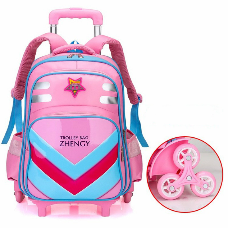 Children Trolley Backpack School Bags Grils boys Wheeled Student Detachable Rolling Backpacks Trolley schoolbags travel Mochila children trolley backpack school bags boys grils wheeled bag student detachable kids school rolling backpacks travel bag mochila