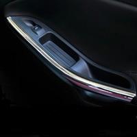 2pcs Set Car Styling Interior Door Armrest Cover Handle Chrome Trim Sticker Case For Ford Focus