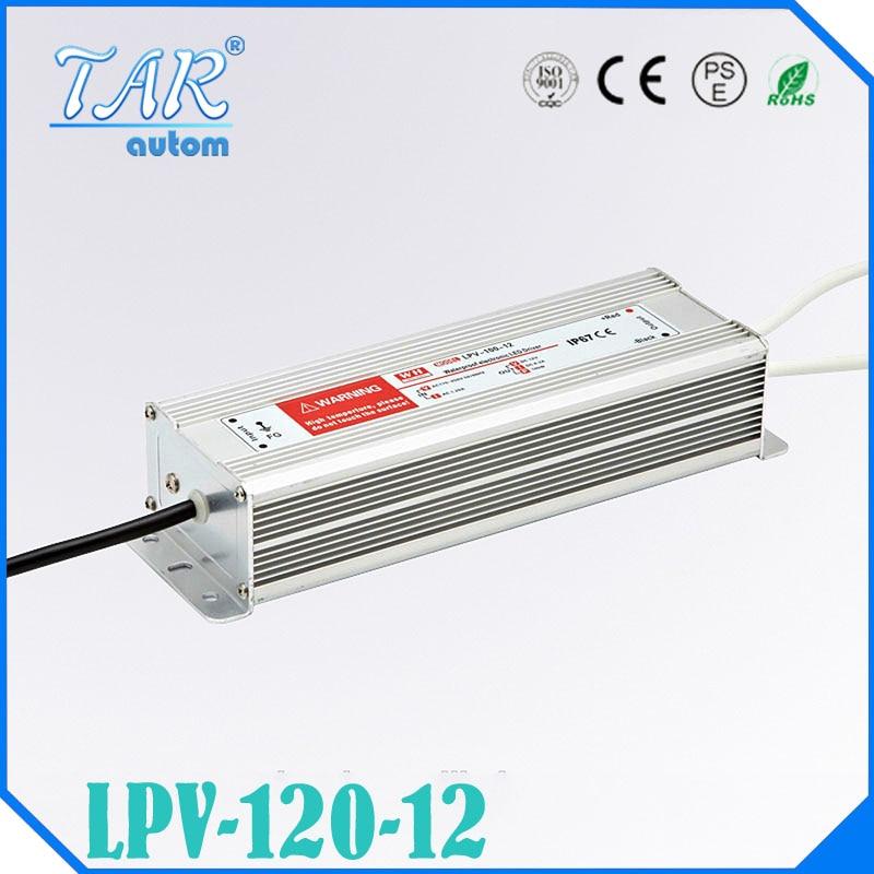 ФОТО (LPV-120-12) CE RoHS DC 12V 120W waterproof led power driver IP67 110VAC or 220VAC input