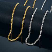Mens Gold Chain Necklace For Men/Women Jewelry 20 23 26 Color Stainless Steel Rope Neckalces Male Collier