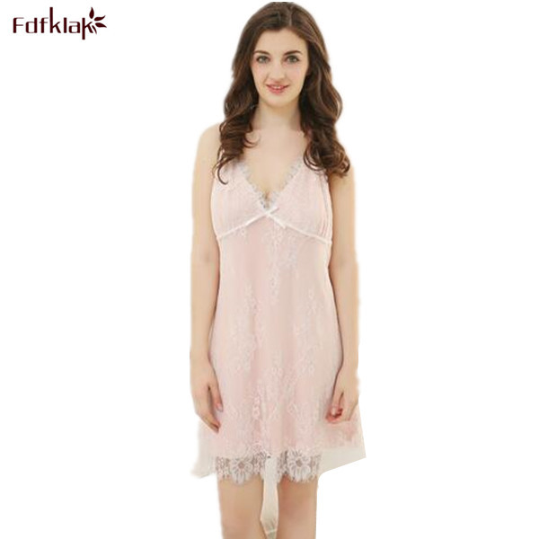 b9789e8a7c Sexy Sleepwear For Women 2017 Summer Spaghetti Strap Vintage Nightdress Long  Pink Lace Nightgown Plus Size Lingerie XL-3XL Q141