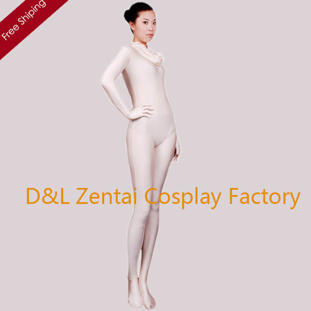 c9d02c04edf8 Online Shop Free Shipping DHL Adult Sexy Woman Flesh Color Lycra Jumpsuit  Full Body Spandex Zentai Unitard 2nd Skin Carnival Suit LZT402