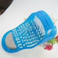 Душ для ног ноги Очиститель скруббер шайба обувь баня кисти ног здравоохранения инструмент бытовой Ванная комната каменный Массажер Тапочки синий