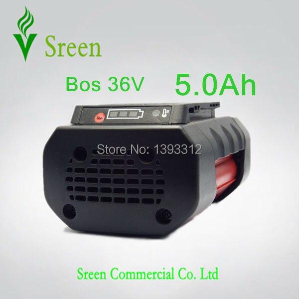 5000mAh Spare Rechargeable Lithium Ion Power Tool Battery Replacement for Bosch 36V BAT810 BAT836 BAT840 D-70771 2607336108 New 3pcs 3000mah rechargeable lithium ion replacement for bosch 36v power tool battery packs bat810 bat836 bat840 d 70771 gsb 36v li