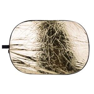 Image 3 - Godox 5 in 1 60*90 cm Achtergrond Board Ronde Rechthoek Reflector Inklapbare Verlichting Diffuser Disc Zwart Zilver Goud wit