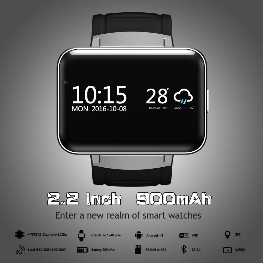 Смарт часы 2,2 дюймов Android OS 3g Smartwatch MTK6572 двухъядерный 1,2 ГГц 512 Мб ОЗУ 4 Гб ПЗУ камера WCDMA gps R20