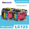 Aecteach LC123 Ink Cartridge for Brother LC121 LC125 LC127 LC129 DCP-J132W J152W J172W J552 J752 J4110DW J6520DW J4710DW Printer