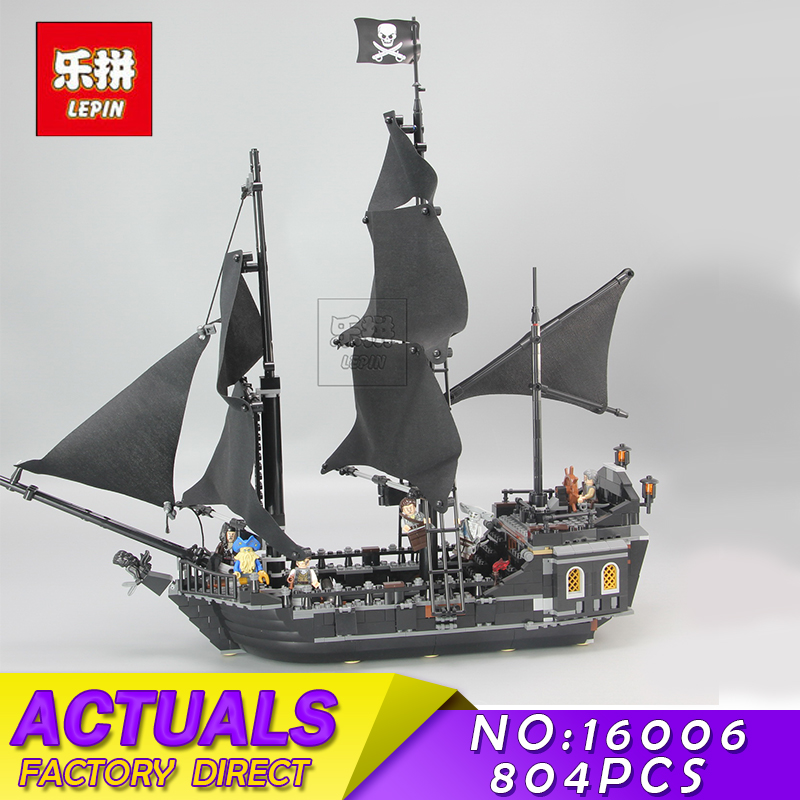 LEPIN 16006 804pcs Pirates of the Caribbean Black Pearl Building Blocks Bricks Set The Figures Compatible with Children Toys
