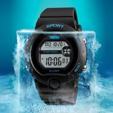 Fashion Women Sport Watches Brand SKMEI Silicone Waterproof