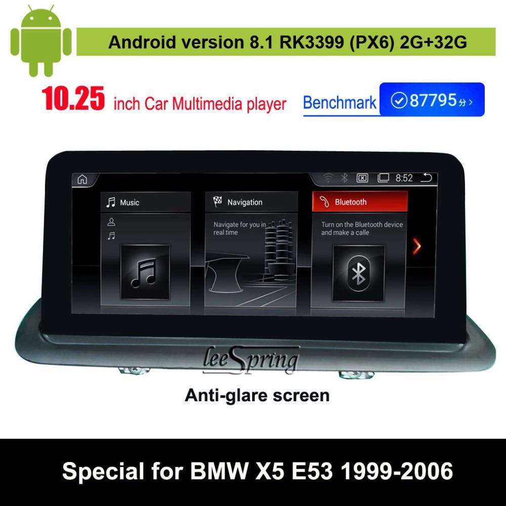 Lecteur multimédia de voiture Android 8.1 pour BMW X5 E53 (1999-2006) Navigation GPS automatique