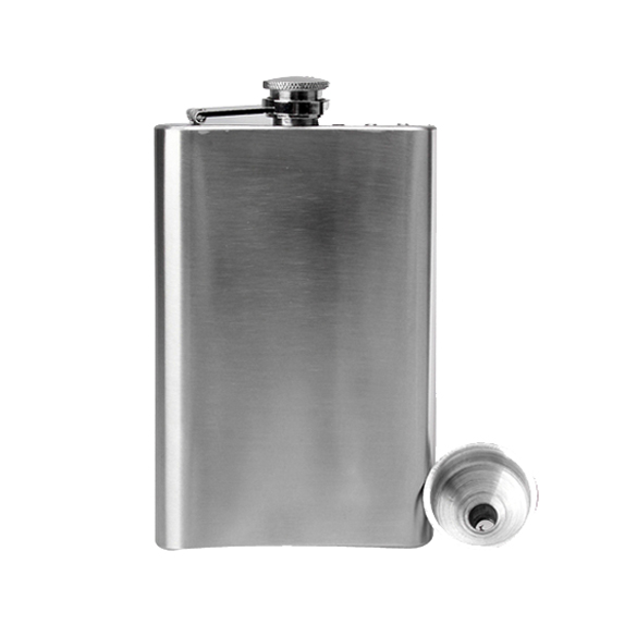 5oz Hip Flask Screw Cap Funnel Cap Stainless Drink Liquor Whisky Alcohol LXY9