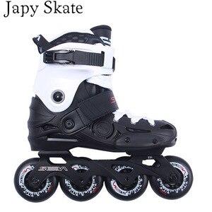 Image 3 - Japyスケートオリジナルセバebプロスラロームインラインスケート大人のローラースケートの靴スライド送料スケートpatines