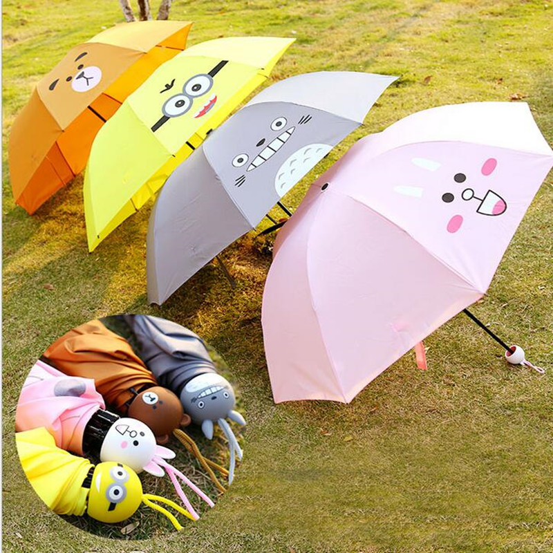 2016 Hot Manual Umbrella Rain Women Parasol Umbrella Anti UV Parasol 3 Folding Umbrella For Travel Meteor Showers Free Shipping