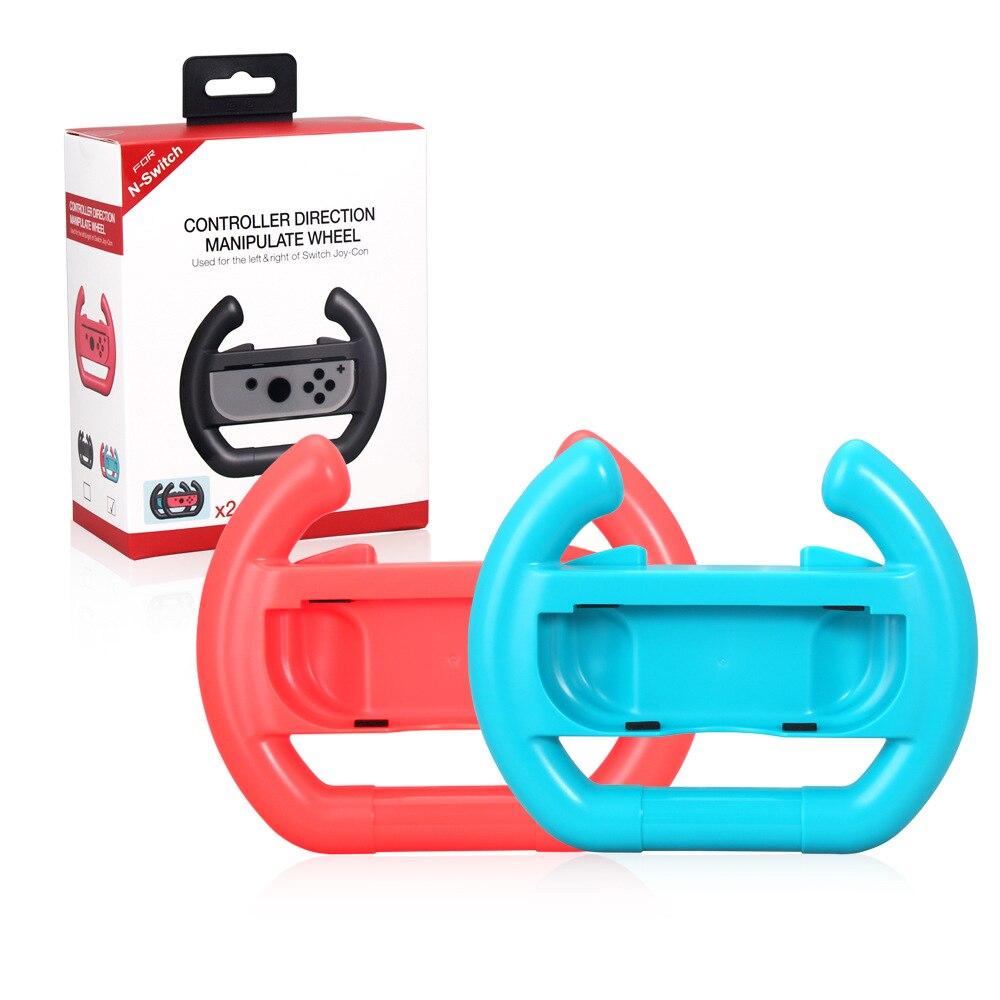 Rot Blau Farbe 2 stücke ABS Lenkrad Griff Standinhaber Für Nintend Schalter Gamepads Links Rechts JoySticks Controller