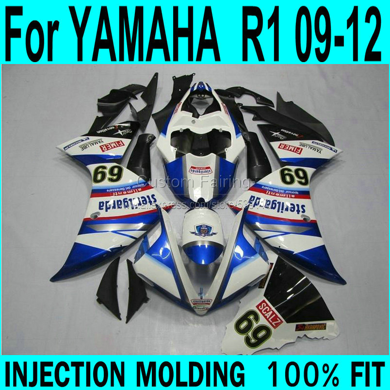 купить Blue kits For YAMAHA  R1 09 - 12 Fairings ( number 69 ) 09 Injection Fairing kit ll49 дешево