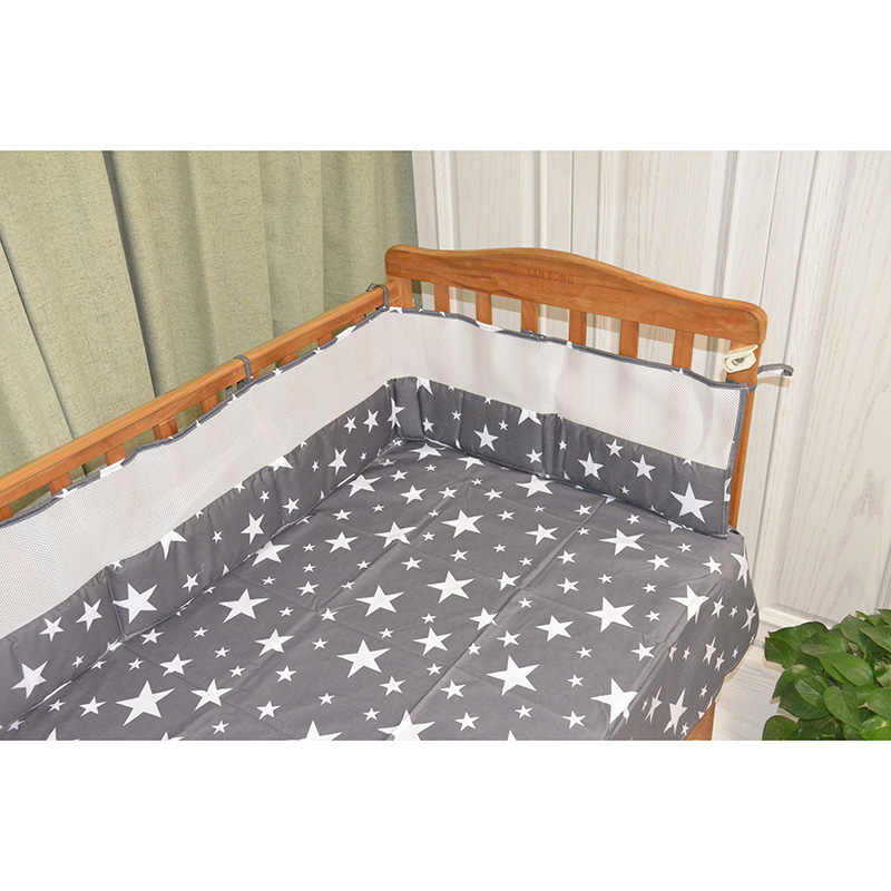 नि: शुल्क शिपिंग सांस मेष पालना बंपर बेबी बिस्तर पालना लाइनर बेबी खाट बिस्तर रक्षा के चारों ओर ठोस