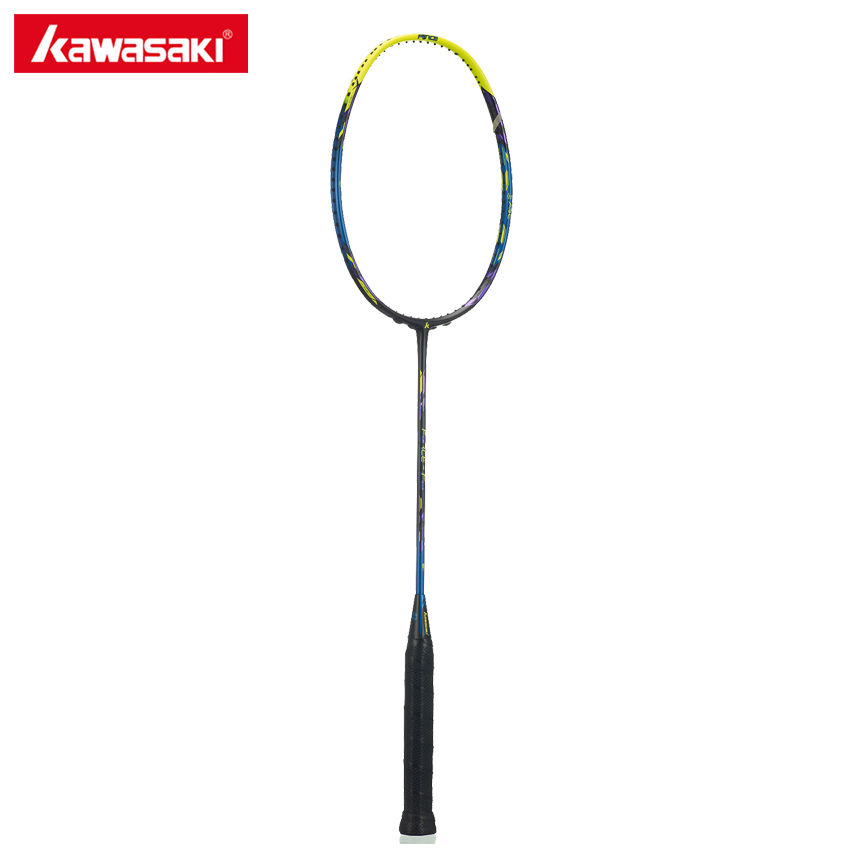 Kawasaki Badminton Racket Force Series F8 18-30LBS High Tension Professional 3U Racquet Badminton Box Frame Structure yonzhenx 2017 new 3u badminton rackets super light g3 high tension full carbon professional badminton racquet with original bag