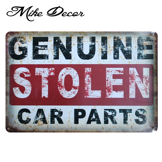 Mike86 Genuine Car Parts Vintage Metal Tin Sign Party Wall Plaque